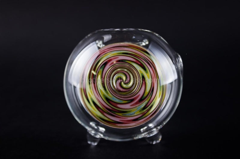 Chameleon Glass Typhoon Triple Bubble Reversal Hand Pipe - Natural - Brothers with Glass - 4