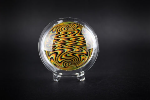 Chameleon Glass Swirl Typhoon Triple Bubble Hand Pipe - Rasta - Brothers with Glass - 2