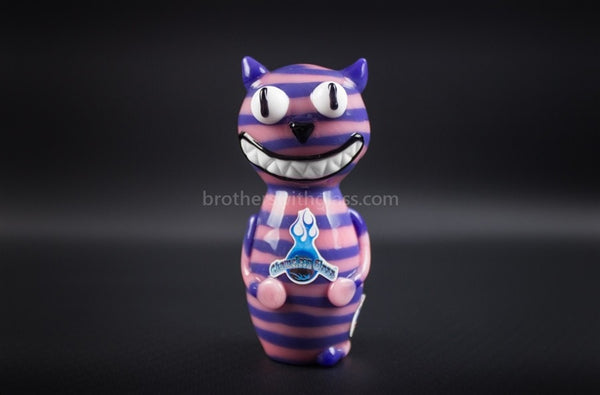 Chameleon Glass Wonderland Cheshire Cat Hand Pipe - Brothers with Glass - 1