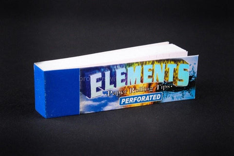 Elements Perforated Tips For Rolling Papers - Brothers with Glass
