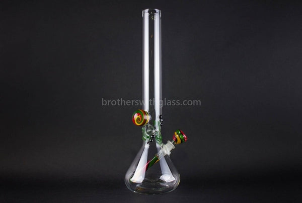 Realazation 16 In Glass Reversal Water Pipe - Old School Rasta - Brothers with Glass - 1