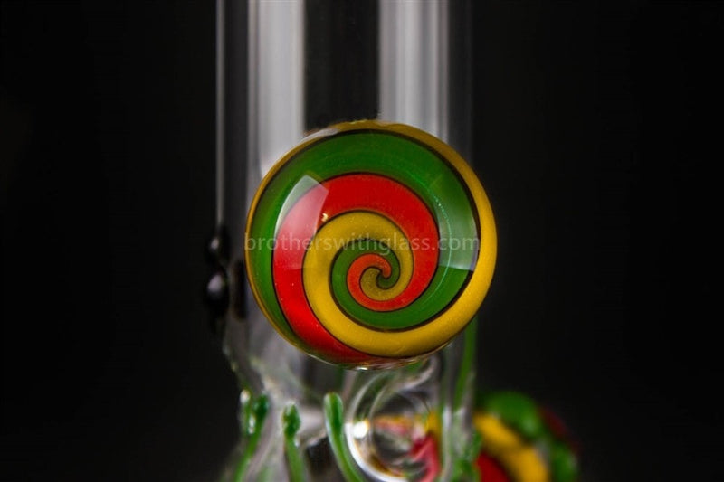 Realazation 16 In Glass Reversal Water Pipe - Old School Rasta - Brothers with Glass - 3