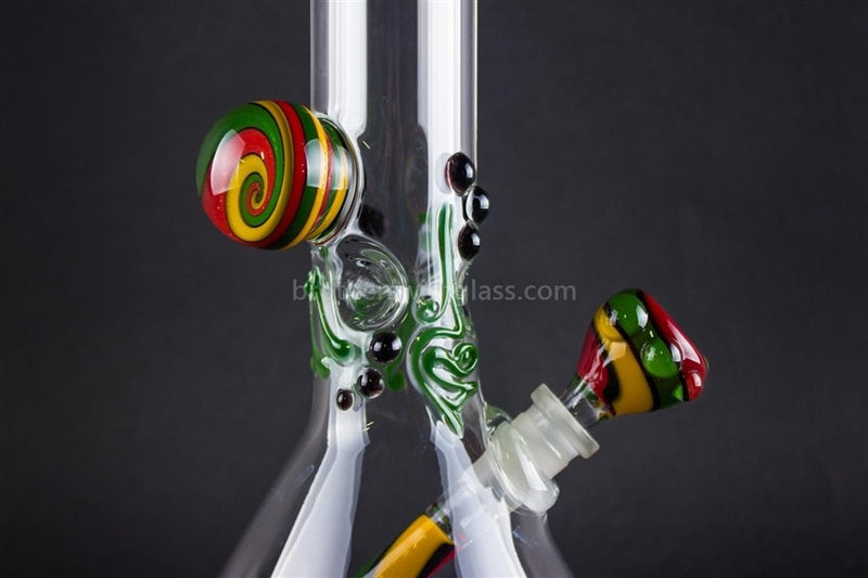 Realazation 16 In Glass Reversal Water Pipe - Old School Rasta - Brothers with Glass - 4