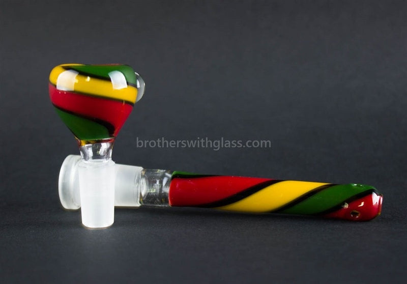 Realazation 16 In Glass Reversal Water Pipe - Old School Rasta - Brothers with Glass - 5