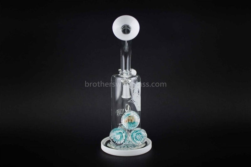HVY Glass Marbled Bent Neck Inline Dab Rig And Water Pipe - Brothers with Glass - 2