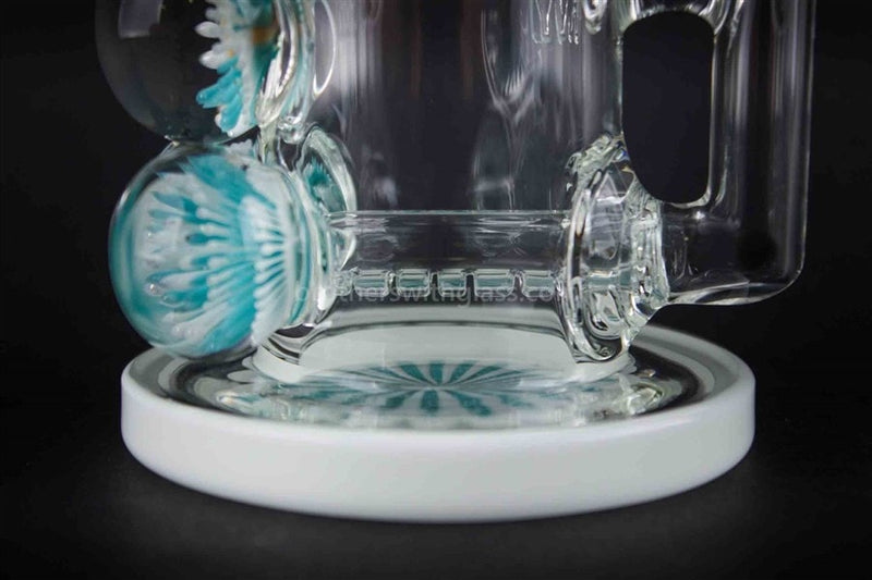 HVY Glass Marbled Bent Neck Inline Dab Rig And Water Pipe - Brothers with Glass - 4