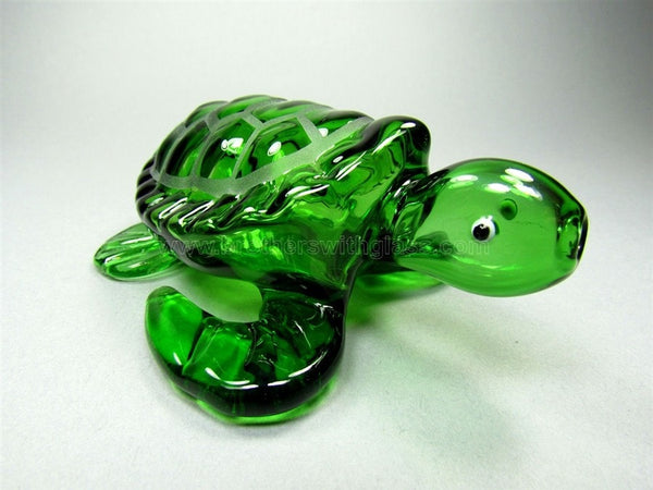 Green Sea Turtle Glass Pipe - Brothers with Glass - 1