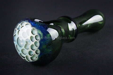 Mathematix Glass Green with Honeycomb Hand Pipe - Brothers with Glass - 1