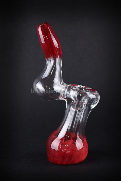 Mathematix Glass Mini Stinger Sherlock Bubbler Water Pipe - Red - Brothers with Glass - 1