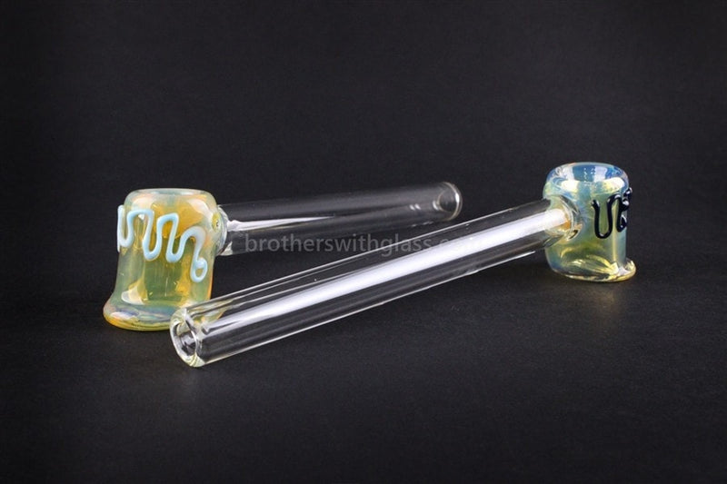 Mathematix Glass Fumed Lil Mallet Hand Pipe - Brothers with Glass - 4