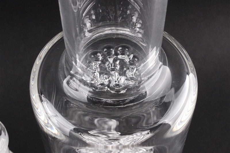 JM Flow Straight Glass Water Pipe Fat Can - Upline to Double Cross - Brothers with Glass - 5