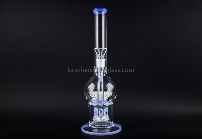 JM Flow Glass 24 Octopus to 40 Sprinkler Perc Water Pipe - Periwinkle - Brothers with Glass - 2