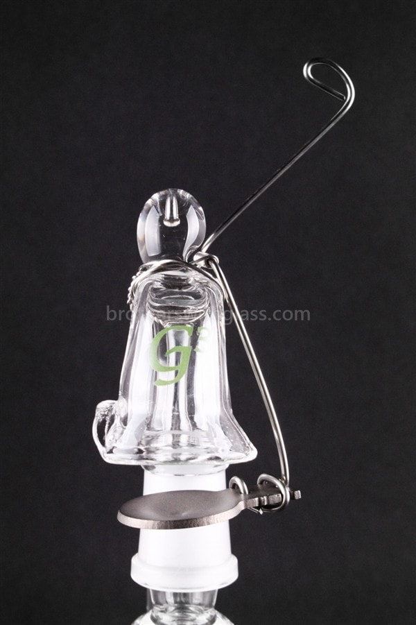 Green Goddess Glass Dab Swing Titanium Skillet - 90 Degree Female 14 mm - Brothers with Glass - 2