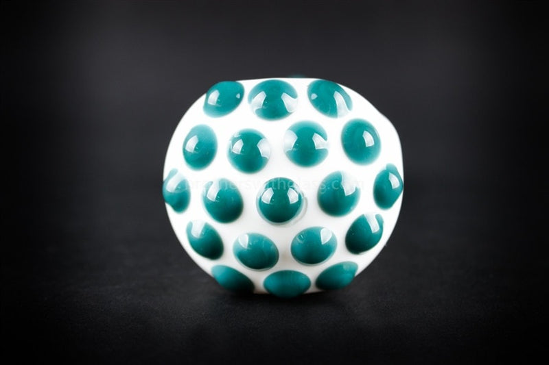 Greenlite Glass Teal Polka Dots Hand Pipe - Brothers with Glass - 3