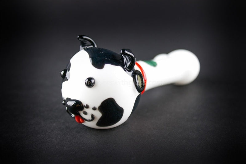 Greenlite Glass Give a Dog a Bone Hand Pipe - Brothers with Glass - 1