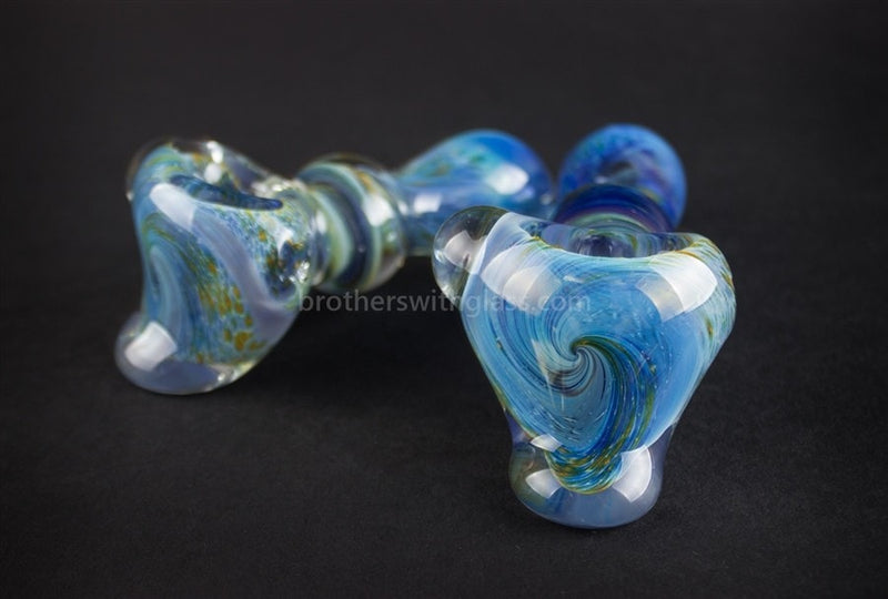 Nebula Glass Fumed Galaxy Hammer Hand Pipe - Blue - Brothers with Glass - 3