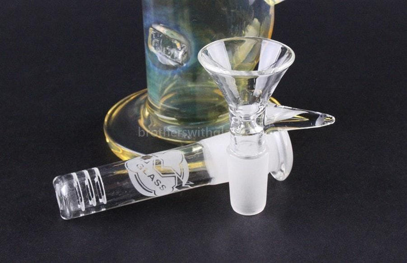 HVY Glass 8.50 In Bent Neck Water Pipe - Fumed - Brothers with Glass - 3