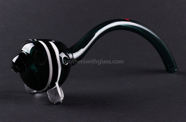 Mathematix Glass 8 In Striped Gandalf - Teal and White - Brothers with Glass - 1