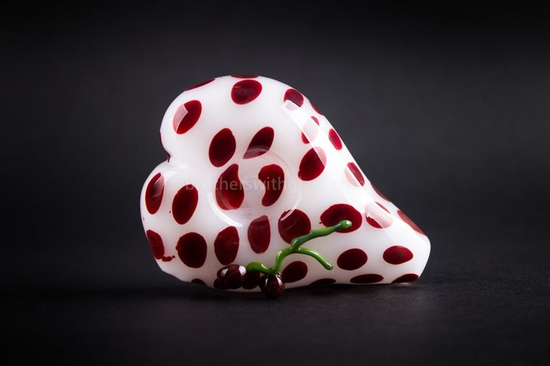 Mathematix Glass Heart Shaped Cherry Hand Pipe - Brothers with Glass - 2