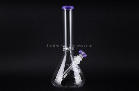 HVY Glass 11 in Beaker Water Pipe - Pink Slyme - Brothers with Glass - 1