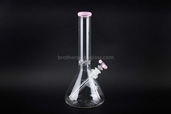 HVY Glass 11 in Beaker Water Pipe - Pink - Brothers with Glass - 1