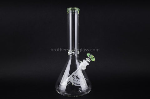 HVY Glass 11 in Beaker Water Pipe - Slyme - Brothers with Glass - 1