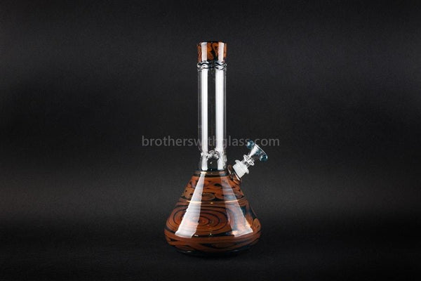 HVY Glass Coiled Color Beaker Water Pipe - Metallic - Brothers with Glass - 1