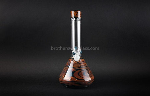 HVY Glass Coiled Color Beaker Water Pipe - Metallic - Brothers with Glass - 2