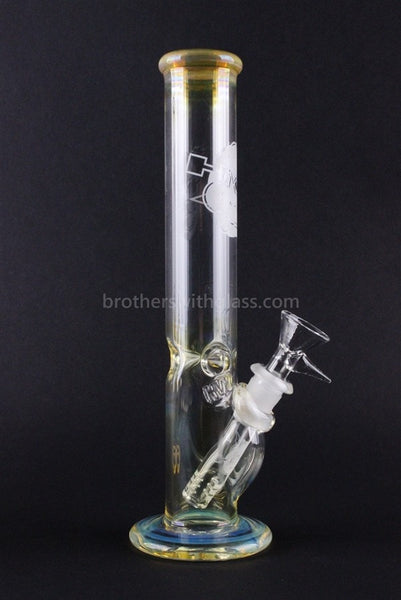 HVY Glass 10 Inch Straight Water Pipe - Fumed - Brothers with Glass - 1
