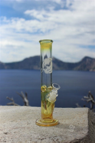 HVY Glass 10 Inch Straight Water Pipe - Fumed - Brothers with Glass - 5