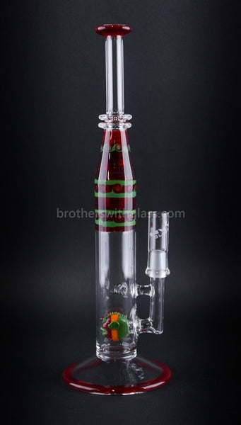 HVY Glass 32mm Straight Fish Perc Vapor Rig - Rastafish - Brothers with Glass - 1