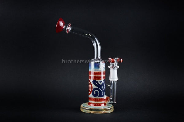 HVY Glass Colored Bent Neck Mini Can Dab Rig - Brothers with Glass - 1