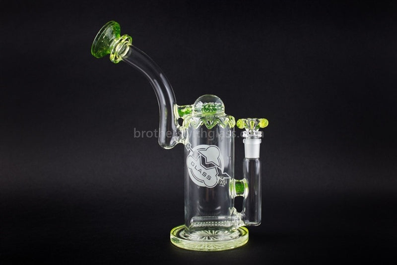 HVY Glass Heady Illuminati UV Reactive Inline Bubbler Water Pipe - Brothers with Glass - 1
