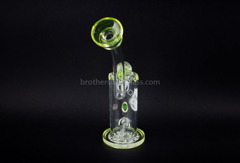 HVY Glass Heady Illuminati UV Reactive Inline Bubbler Water Pipe - Brothers with Glass - 2