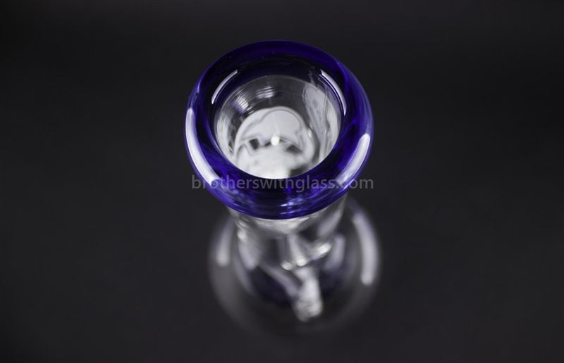 HVY Glass 10 In Color Wrap Beaker 9mm- Navy Blue - Brothers with Glass - 6