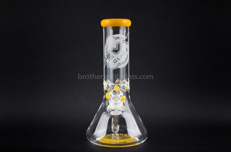 HVY Glass 10 In Color Wrap Beaker 9mm - Sunshine Yellow - Brothers with Glass - 2