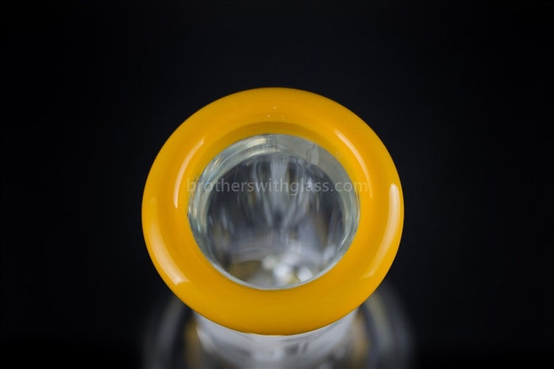 HVY Glass 10 In Color Wrap Beaker 9mm - Sunshine Yellow - Brothers with Glass - 7