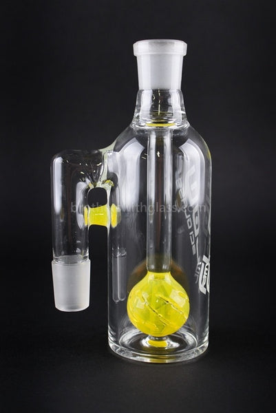 JM Flow Beach Ball Perc Ash Catcher 18/18mm 90 Degree - Lemon Drop - Brothers with Glass - 1