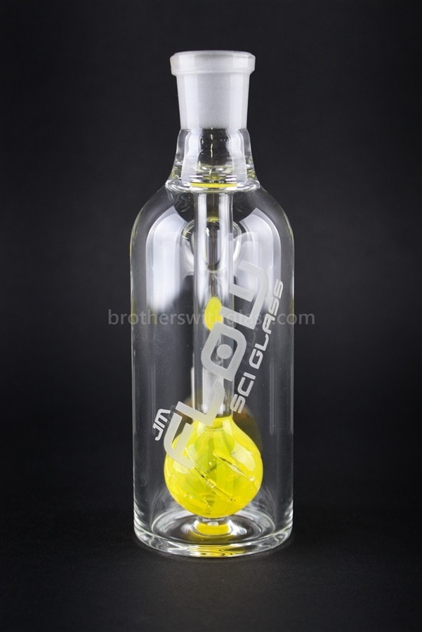 JM Flow Beach Ball Perc Ash Catcher 18/18mm 90 Degree - Lemon Drop - Brothers with Glass - 2