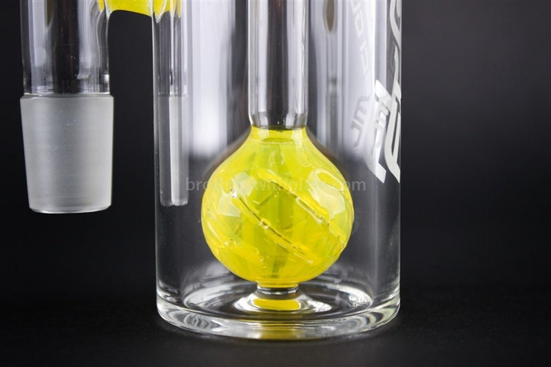 JM Flow Beach Ball Perc Ash Catcher 18/18mm 90 Degree - Lemon Drop - Brothers with Glass - 3