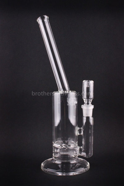 JM Flow Straight Angle Neck Inline to Turbine Perc Water Pipe - 18mm - Brothers with Glass - 1