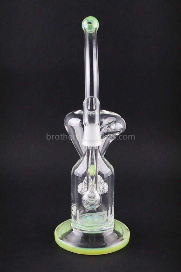 JM Flow Cross Perc Recycler Glass Concentrate Rig - Slyme - Brothers with Glass - 2