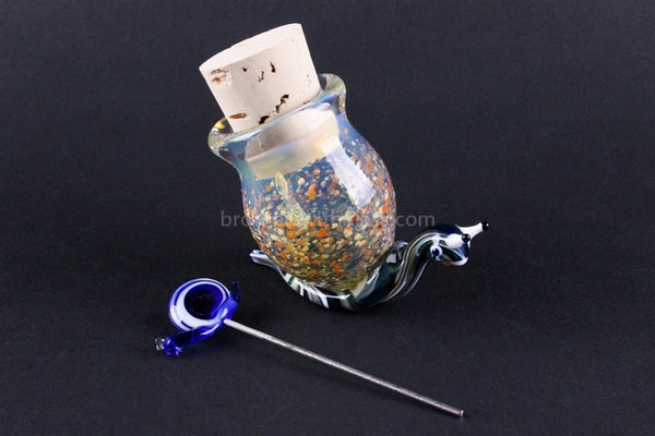 Heady Glass Frit Color Stash Jar - Slimy Snail - Brothers with Glass - 1