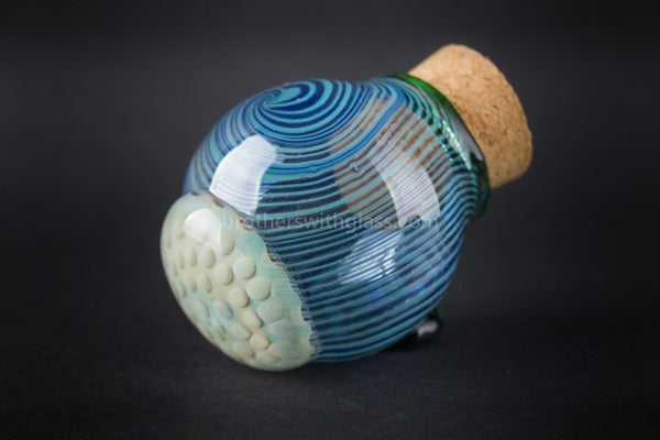 Honeycomb Heady Glass Stash Jar With Cork - Brothers with Glass - 1
