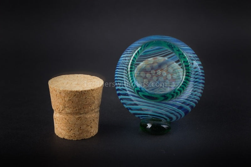 Honeycomb Heady Glass Stash Jar With Cork - Brothers with Glass - 3