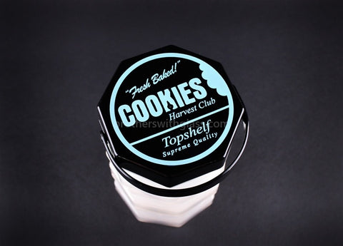 Goodlife Fresh Baked Stacked Cookies Jar with Compartments - Brothers with Glass - 2