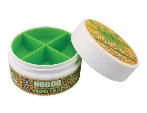 NoGoo Non Stick Platinum Cured Silicone Large Container - White - Brothers with Glass - 1
