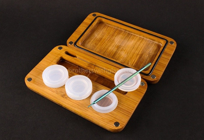 Kindtray Phatty Mini Vape Pen Tray with Three No Goos - Brothers with Glass - 1