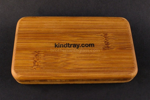 Kindtray Phatty Mini Vape Pen Tray with Three No Goos - Brothers with Glass - 2