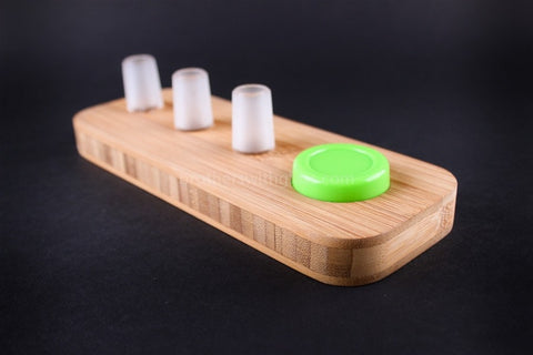 Kindtray Wood Tray 18mm 3 Slide and NoGoo Holder - Brothers with Glass - 2